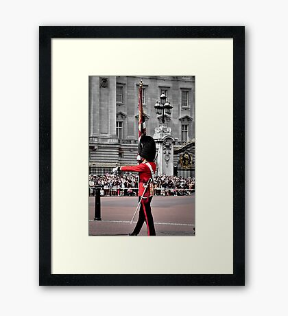 Soldier marching Framed Print