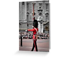 Soldier marching Greeting Card