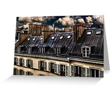 Building In Paris Fine Art Print Greeting Card