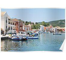 Gaios harbour, Paxos Poster