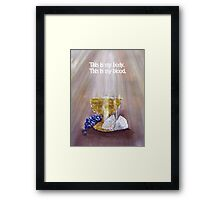 Body and Blood Framed Print