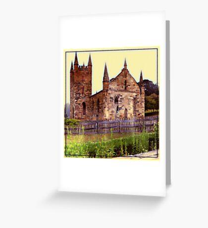 Church Ruins Greeting Card