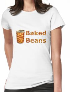 Baked Beans Can Womens Fitted T-Shirt