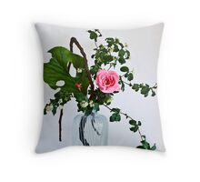 Ikebana-125 Throw Pillow