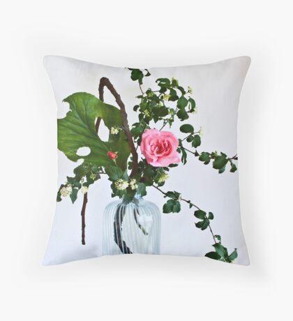 Ikebana-125 Throw Pillow