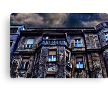 Ruined Residential Building Belgrade Canvas Print