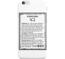 ATHEIST BIBLE BACK COVER iPhone Case/Skin