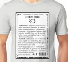 ATHEIST BIBLE BACK COVER Unisex T-Shirt