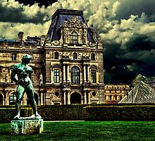 Louvre Museum Paris Fine Art Print by stockfineart