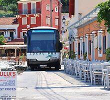 Local bus at Loggos, Paxos island by David Fowler