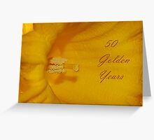 50 Golden Years Greeting Card