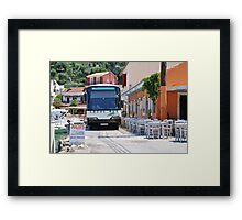 Local bus on Paxos Framed Print