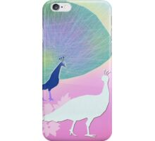 White Peacock iPhone Case/Skin