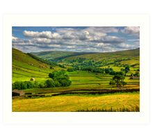 Looking Down The Dale. Art Print