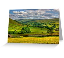 Looking Down The Dale. Greeting Card