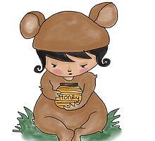 Honey Jar Bear by Beatrice  Ajayi