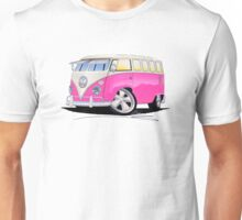 VW Splitty (23 Window) Camper Van Pink Unisex T-Shirt