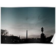 Washington Monument at Sunset Poster