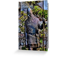 Knight Statue Fortress Kalemgdan Belgrade Greeting Card
