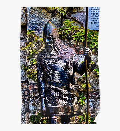 Knight Statue Fortress Kalemgdan Belgrade Poster