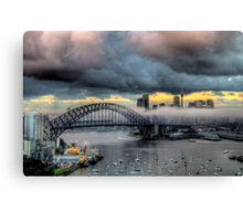 The Big Smoke -Shadows & Mist - Moods Of A City - The HDR Experience Canvas Print