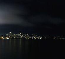 Vivid Sydney Habour By Night Panorama - Australia by mroz