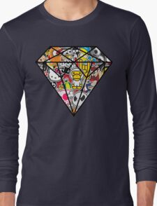 Diamind Sticker bomb- Vintage Long Sleeve T-Shirt