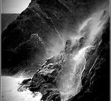 Tresaith Waterfall by Beverley Barrett