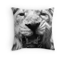 Ashok in Monochrome Throw Pillow