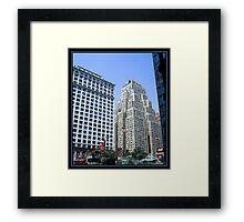 THE NEW YORKER HOTEL BRUSHSTROKES Framed Print
