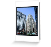THE NEW YORKER HOTEL BRUSHSTROKES Greeting Card