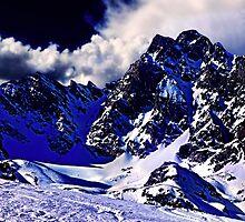 Alps In Winter Fine Art Print by stockfineart