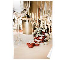 CELEBRATE (STILL LIFE - Wine Glasses - M&M's - Zinc Bucket) Poster
