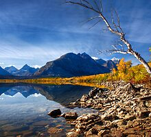 Saint Mary's Lake in Fall. Glacier National Park. Montana. USA by photosecosse /barbara jones