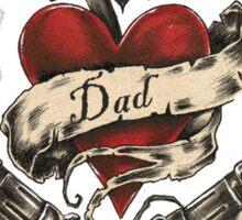 dad tattoo Sticker