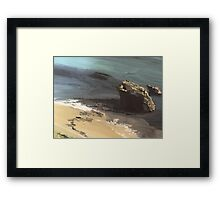 Castle Beach Falmouth Cornwall Framed Print