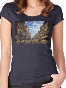 City - NY - Main Street. Poughkeepsie, NY - 1906 Women's Fitted Scoop T-Shirt