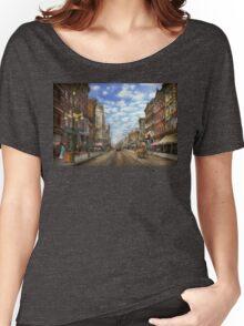 City - NY - Main Street. Poughkeepsie, NY - 1906 Women's Relaxed Fit T-Shirt