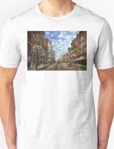 City - NY - Main Street. Poughkeepsie, NY - 1906 Unisex T-Shirt