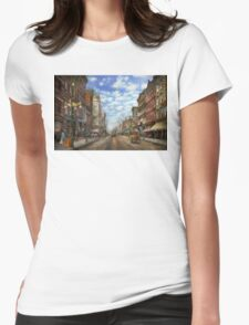 City - NY - Main Street. Poughkeepsie, NY - 1906 Womens Fitted T-Shirt
