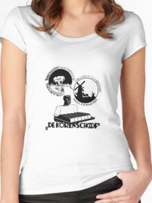 Distracted Vintage Baker's dozen t-shirt design Women's Fitted Scoop T-Shirt