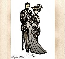 Nostalgic ink drawing by patjila