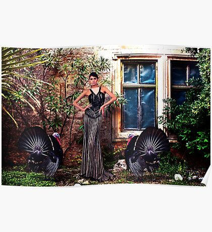 High Fashion Model With Turkey Poster