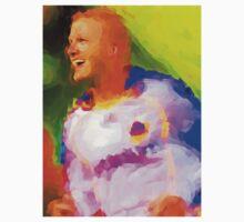 David Beckham Paint effect tshirt by kmercury
