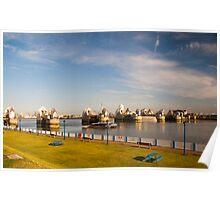 Morning Light at the Thames Barrier: London UK Poster