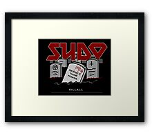 SUDO - Heavy Metal Sysadmin Framed Print