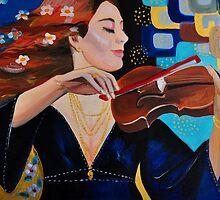 Frau mit Violine. / Dama con  violin by Candy1974