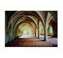 Fountains Abbey - Cellarium Art Print