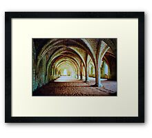 Fountains Abbey - Cellarium Framed Print