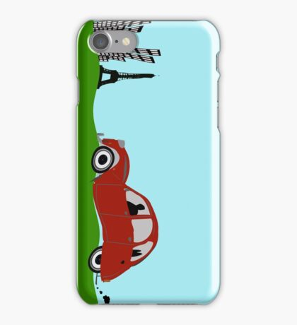 Driving to Paris iPhone Case/Skin
